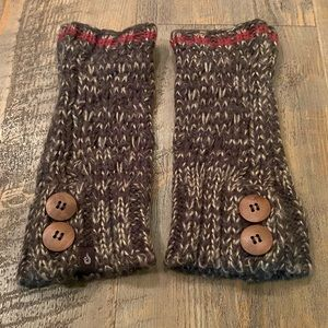 Thick warm knit fingerless gloves